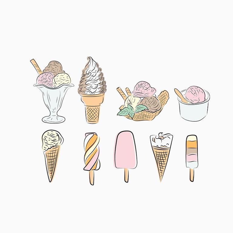 Custom Illustration - Ice Creams
