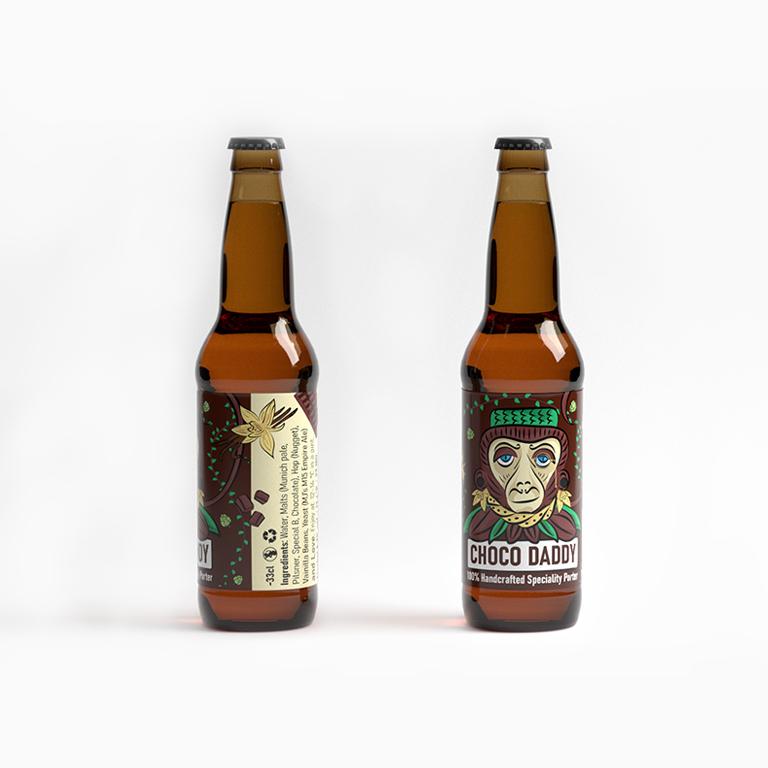Custom Beer Label - Choco Daddy